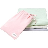 Under the Nile Fitted Crib Sheet With Bag - Sage by Under the Nile