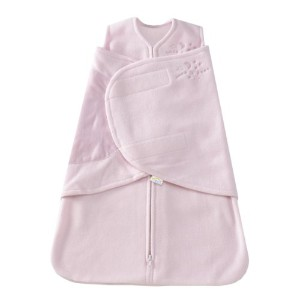 HALO SleepSack Micro-Fleece Swaddle, Soft Pink, Newborn by Halo