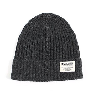 MAGIC NUMBER(マジックナンバー)Poly/Wool Blend Basic Rib Beanie Gray ビーニー 帽子