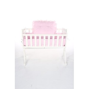 Baby Doll Bedding Gingham Cradle Set, Pink by BabyDoll Bedding