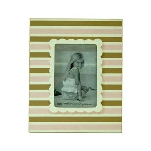 New Arrivals Frame, Pink/Brown Stripe by New Arrivals