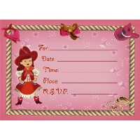 Dolce Mia Horsey Girl Party Invitation Party Pack - 8 cards by Dolce Mia Designs