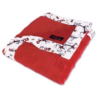 Trend Lab 30047 Receiving Blanket-2 Couche Velour Red Star Avec Dr. Seuss Cat In The Hat Scatterprin...