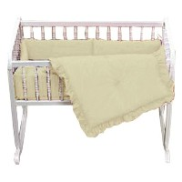 Baby Doll Bedding Solid Cradle Set, Yellow by BabyDoll Bedding