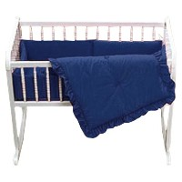 Baby Doll Bedding Solid Cradle Set, Navy by BabyDoll Bedding