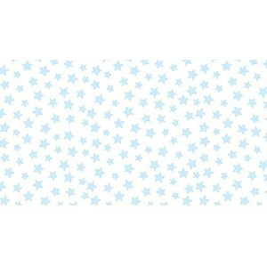 SheetWorld Fitted Pack N Play (Graco) Sheet - Pastel Blue Stars Woven - Made In USA by sheetworld