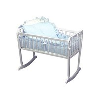 Baby Doll Bedding Pretty Pique Cradle Set, Blue by BabyDoll Bedding