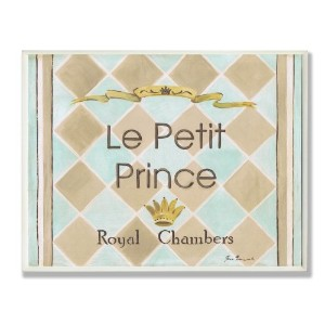 The Kids Room by Stupell Le Petit Prince Royal Chambers Brown and Blue Rectangle Wall Plaque by The...