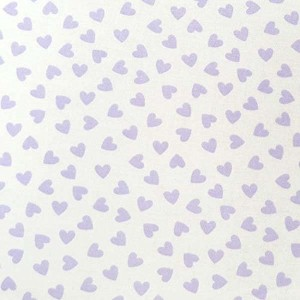 SheetWorld Fitted Pack N Play (Graco) Sheet - Pastel Lavender Hearts Woven - Made In USA by...