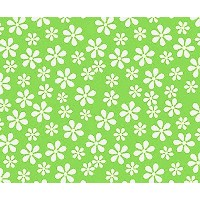 SheetWorld Fitted Pack N Play (Graco) Sheet - Primary Green Floral Woven - Made In USA by sheetworld