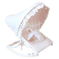 Hoohobbers Rocking Infant Seat, White Pique by Hoohobbers