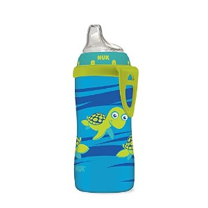 NUK Blue Turtle Silicone Spout Active Cup, 10-Ounce by NUK [並行輸入品]