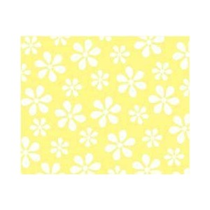 SheetWorld Fitted Pack N Play (Graco) Sheet - Pastel Yellow Floral Woven - Made In USA by sheetworld