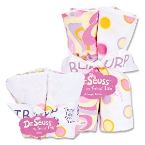 Dr. Seuss Oh The Places You''ll Go Bouquet Bib and Burp Cloth Set by Trend Lab