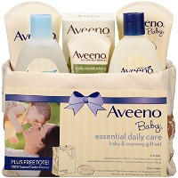 Aveeno Baby Gift Set, Daily Care Essentials Basket, Baby and Mommy Gift Set by Aveeno [並行輸入品]