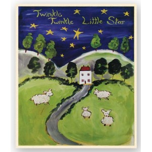 The Kids Room by Stupell Twinkle. Twinkle Sheep in a Field Rectangle Wall Plaque by The Kids Room...