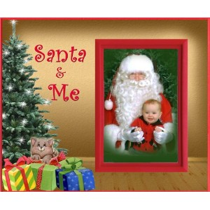 Santa and Me (Kitten) Christmas Picture Frame Gift by Expressly Yours! Photo Expressions