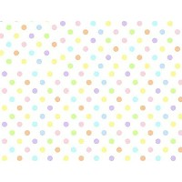 SheetWorld Fitted Pack N Play (Graco) Sheet - Pastel Colorful Polka Dots Woven - Made In USA by...