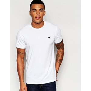 【Abercrombie & Fitch】 アバクロ メンズ / 半袖 Tシャツ / ホワイト 【S】 【Muscle Slim Fit T-Shirt in White】 [並行輸入品]