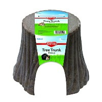 Kaytee Tree Trunk Hideout Stump Natural Secure Hiding Place Wood Plastic Large