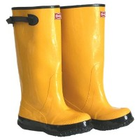 Boss Gloves 2KP448112 Size 12 Mens 17 in. Tall Yellow Rubber Boots