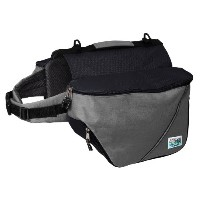 Doggles Dog Backpack, Small, Gray/Black by Doggles