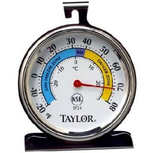 Classic Freezer and Refrigerator Kitchen Thermometer-REFRIG/FRZR THERMOMETER