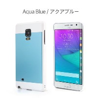Galaxy Note Edge ケース カバー【motomo 正規品】INO METAL Galaxy Note Edge (Galaxy Note Edge, アクアブルー)