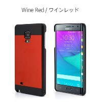 Galaxy Note Edge ケース カバー【motomo 正規品】INO METAL Galaxy Note Edge (Galaxy Note Edge, ワインレッド)