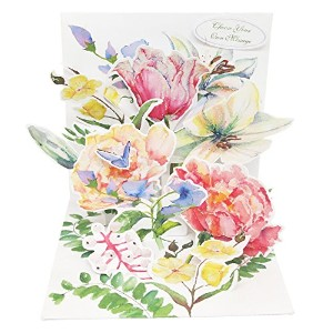 UP WITH PAPER ポップアップ 母の日 グリーティングカード Watercolor Bouquet(水彩画の花束) PS1126