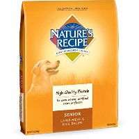 Nature's Recipe Lamb Meal Rice Recipe Senior High Quality Protein Dog Food 15lbs