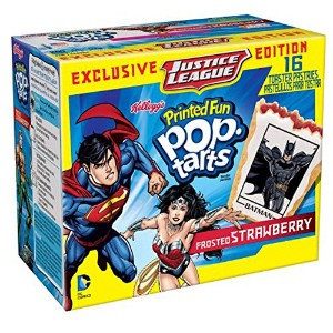 Kellogg's Pop-Tarts DC Comics Printed Fun Toaster Pastries 16ct (イチゴの味) [並行輸入品]