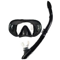 SNORKEL / SCUBA DIVING MASK BY SIER FINS ONE PIECE LENS TEMPERED GLASS SILICON SKIRT ADJUSTABLE...