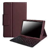 【PCATEC】 Sony Xperia Z4 Tablet 専用 レザーケース付き Bluetooth キーボード☆日本語入力対応 (Sony Xperia Z4 Tablet, ブラウン)