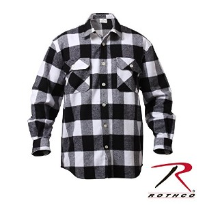 ROTHCO EXTRA HEAVYWEIGHT BRAWNY FLANNEL SHIRTS 4739 (L, ホワイト)