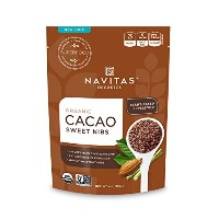 Navitas Naturals Organic Raw Cacao Nibs Sweetened, 4-Ounce Pouches [並行輸入品]
