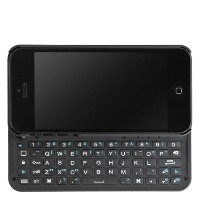 BoxWave Keyboard Buddy iPhone 5s / 5 ケース - Bluetooth iPhone 5s / 5 バックライト・キー付きキーボード・ケース (ジェット・ブラック)