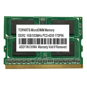 TOPARTS DDR2 1GB 533 PC2-4200 172ピン MicroDIMM メモリLet's Note 対応