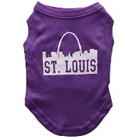 Mirage Pet Products 51-74 MDPR St Louis Skyline Screen Print Shirt Purple Med - 12