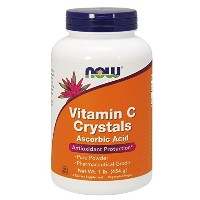 NOW Foods Vitamin C Crystals, Ascorbic Acid, 1 Pound 海外直送品