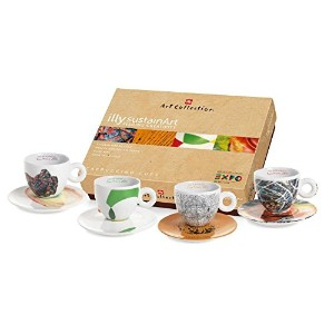 レクションILLY Art Collection (SUSTAIN ART Expo 2015 Milano) Cappuccino 4 cup set - カプチーノ4杯セット - 並行輸入品