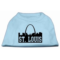 Mirage Pet Products 51-74 XSBBL St Louis Skyline Screen Print Shirt Baby Blue XS - 8