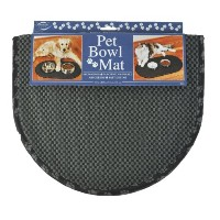 Envision Home 443300 Microfiber Pet Bowl Mat, 12.5 by 21.5-Inch, Black by Envision Home
