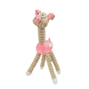 Jute And Rope Giraffe - Pig Pet Toy, One Size, Pink by Pet Life
