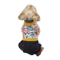 Anima Green Overall with Shirt Top for Pets, XX-Small by Anima