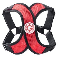 Gooby Choke Free Perfect Fit X Harness for Small Dogs, Medium, Red by Gooby
