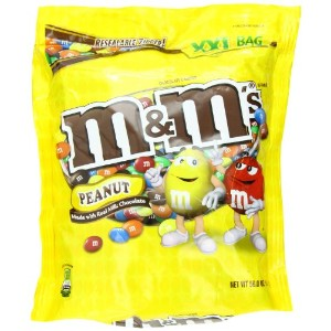 M&M's エムアンドエムズ ピーナッツミルクチョコレート 56oz 1587g M&M'S Peanut Chocolate Candy Party Size 56-Ounce Bag …