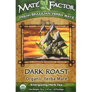 海外直送品Dark Roast Tea, 20 Bag by The Mate Factor