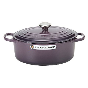 Le Creuset ルクルーゼ SIGNATURE シグニチャー Cocotte Ovale 29 cm ココットオーバル Cassis カシス 両手鍋 [並行輸入品]