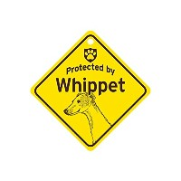 Protected by Whippet スモールサインボード:ウィペット 監視中 ミニ看板 アメリカ製 Made in U.S.A [並行輸入品]